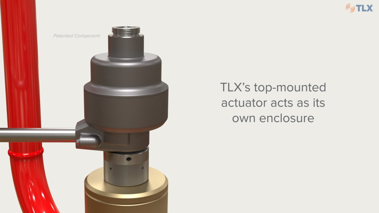 See how this top-mounted actuator acts as an enclosure itself, eliminating the need for additional components.