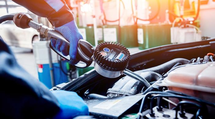 Oil Refill in Car