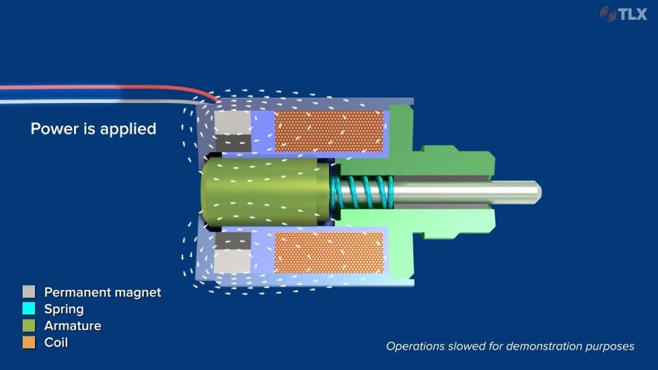 See how latching solenoids work without consuming constant power.